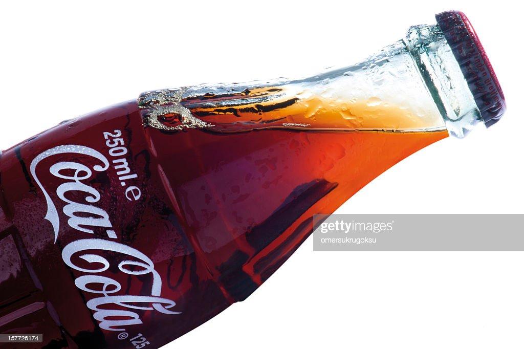 Classical Coca-Cola bottle : Stock Photo