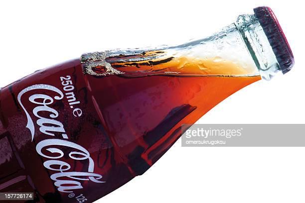 klassische coca-cola bottle - pepsi stock-fotos und bilder