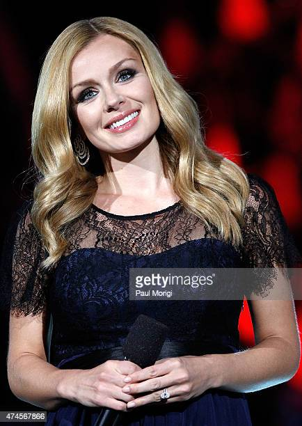Classical crossover artist Katherine Jenkins performs at the 26th National Memorial Day Concert Rehearsals on May 23 2015 in Washington DC