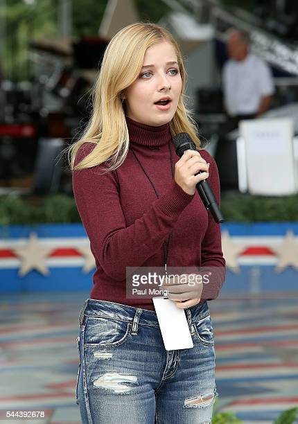 Classical crossover star Jackie Evancho performs during A Capitol Fourth Rehearsals at US Capitol West Lawn on July 3 2016 in Washington DC