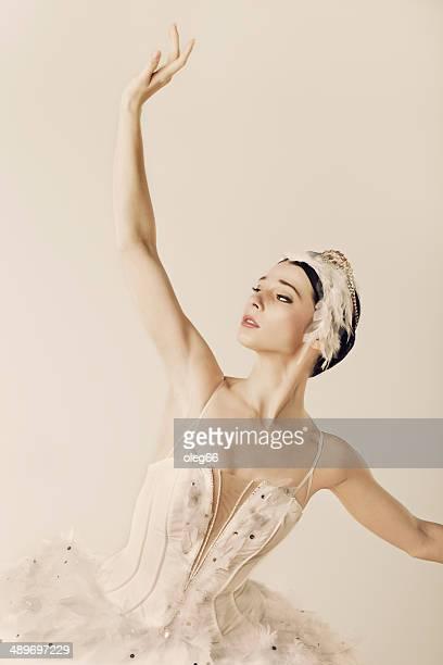 classical dancer - het zwanenmeer ballet stockfoto's en -beelden