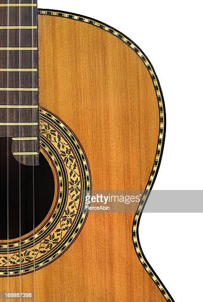 classical guitar on white - classical guitar stock photos and pictures
