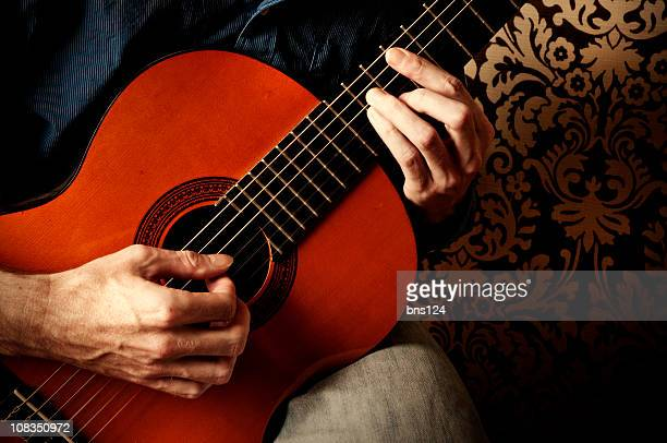classical guitarist - classical guitar stock photos and pictures