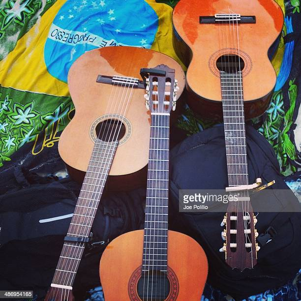 Classical Guitars with Brazil flag