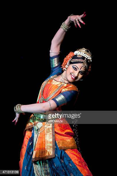 classical indian dancer - indian music stock photos and pictures