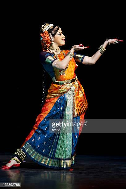 classical indian kuchipudi dancer - traditional ceremony stock pictures, royalty-free photos & images