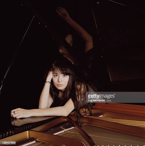 Classical pianist Alice Sara Ott is photographed for the Telegraph on October 3 2011 in London England