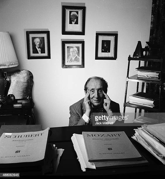 Classical pianist and composer Vladimir Horowitz photographed in his Manhattan home, September 19, 1988.