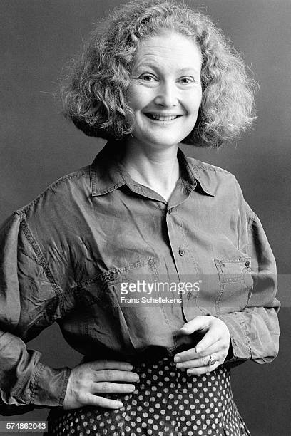 Classical singer Emma Kirkby poses on May 27th 1994 at a hotel in den Bosch, the Netherlands.