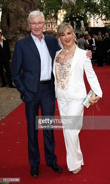 Classical singer Leslie Garrett and TV presenter Paul O'Grady arrive at the UK premiere of Sex And The City 2 at Odeon Leicester Square on May 27...