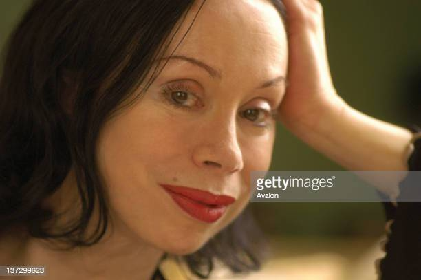 Classical singer Maria Ewing photographed at home in West Sussex UK 2001