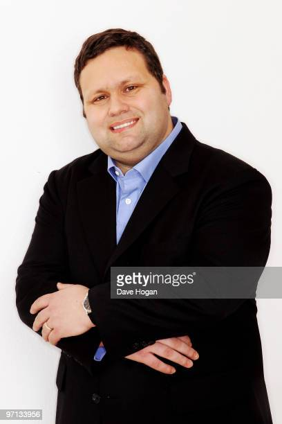 Classical singer Paul Potts attends the recording of the Classical Relief for Haiti single The Prayer at the Metropolis Studios on February 27 2010...