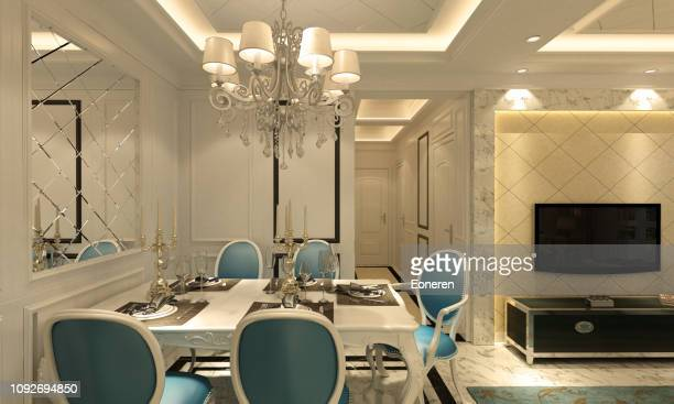 Classical Style Dining Room Interior