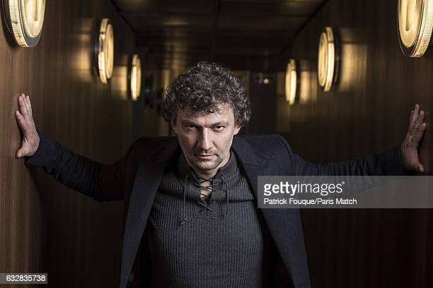 Classical tenor singer Jonas Kaufmann is photographed for Paris Match on January 11 2017 in Paris France