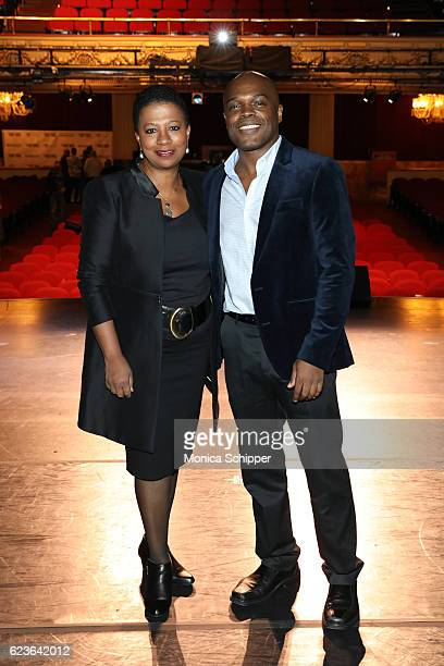 Classical Theatre of Harlem's Producing Artistic Director Ty Jones poses for a photo at 'The First Noel' Sneak Peek at The Apollo Theater on November...