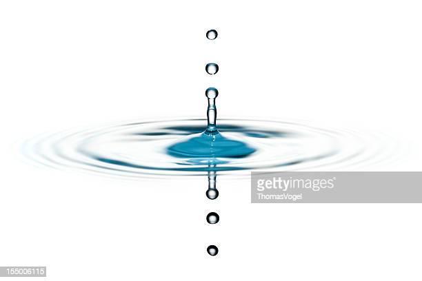 Klassischen drei Wasser Tropfen splash