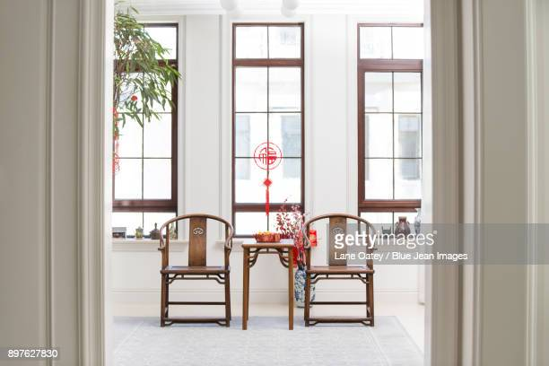 Classical villa with Chinese new year decoration