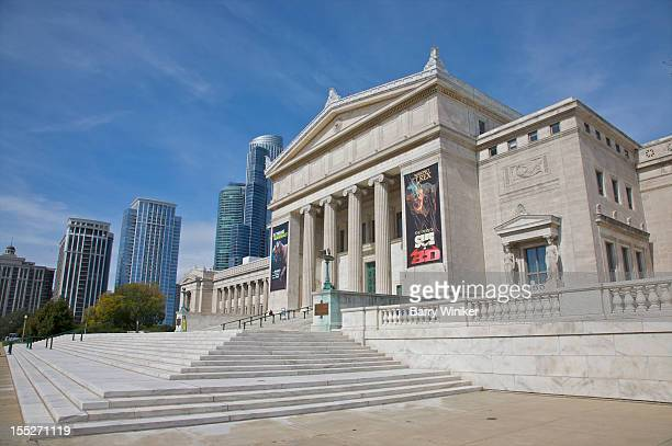 classical white facade of landmark building. - field museum of natural history stock pictures, royalty-free photos & images