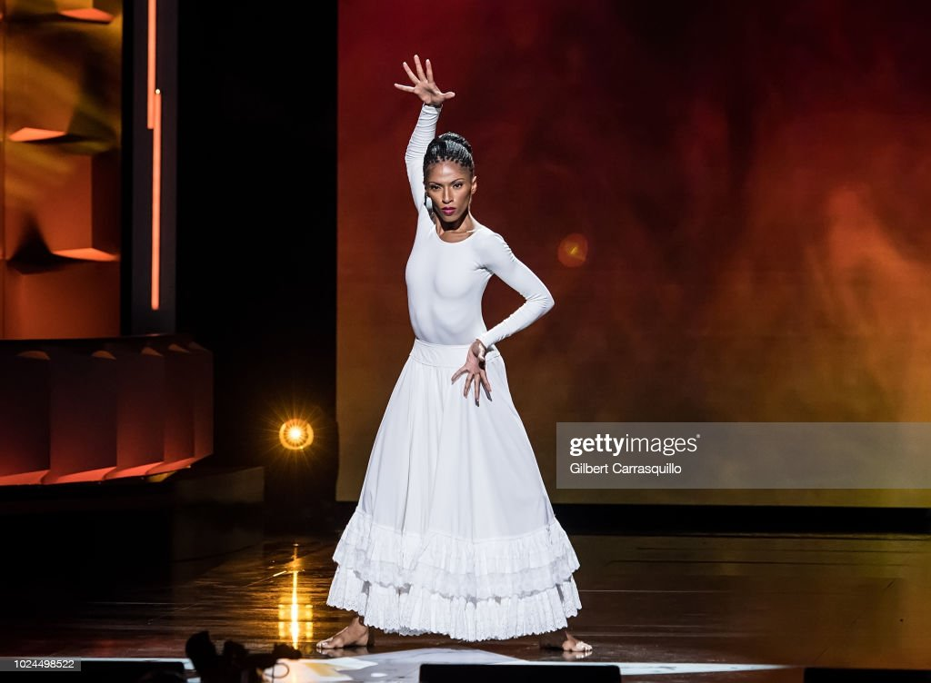 Classically elegant dancer Jacqueline Green performs on stage during the 2018 Black Girls Rock! at New Jersey Performing Arts Center on August 26, 2018 in Newark, New Jersey.