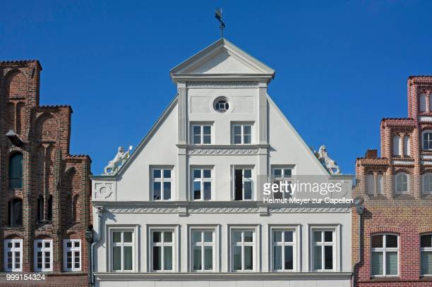 Classicistic Facade from 1800, Lueneburg, Lower Saxony, Germany
