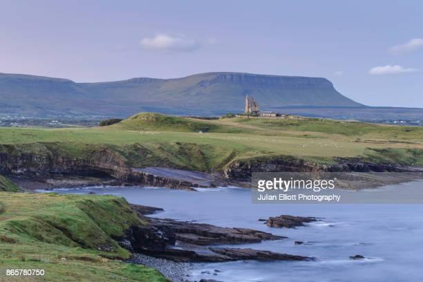 Classiebawn Castle. Mullaghmore and Benbulbin in County Sligo, Ireland.