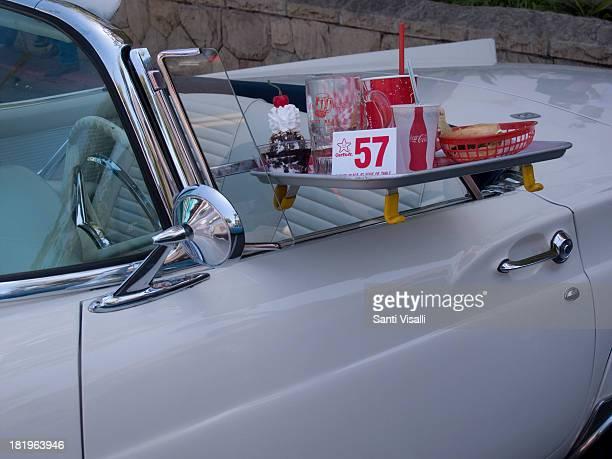 Classis Car Show Ford Thunderbird 1957 on May 192013 in Santa Barbara California