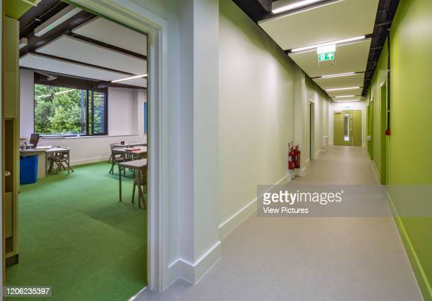 Classroom and corridor in new building Thomas's Battersea London United Kingdom Architect Hugh Broughton Architects Limited 2017