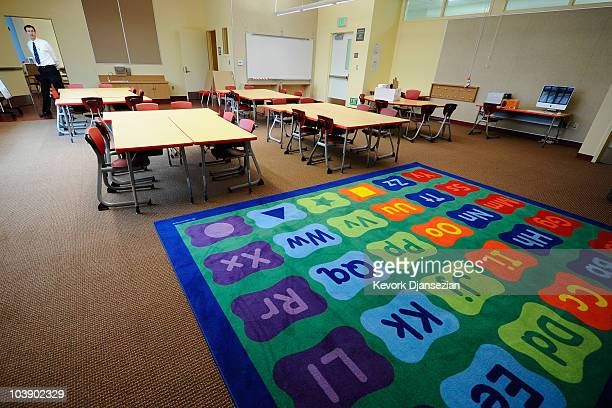 A classroom at the CarsonGore Academy of Environmental Sciences is seen on September 7 2010 in Los Angeles California The $755million elementary...