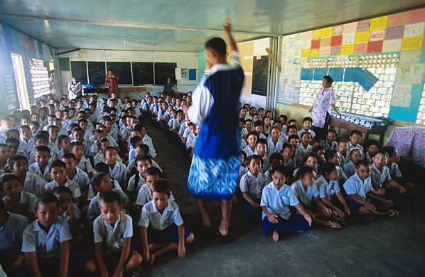 Classroom at Vaipouli school, Avao.