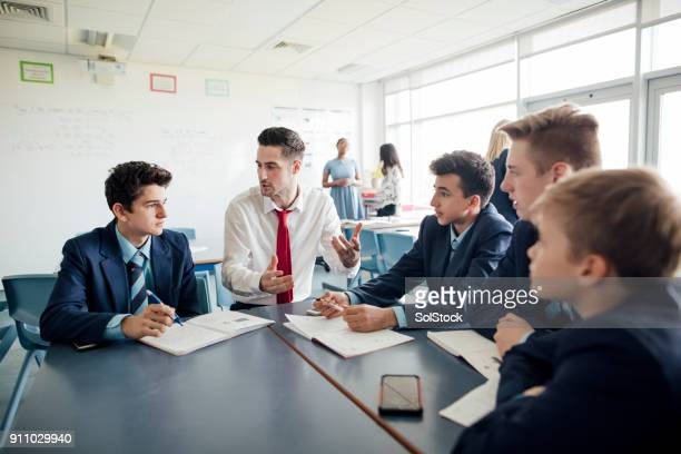 classroom discussion - england stock pictures, royalty-free photos & images