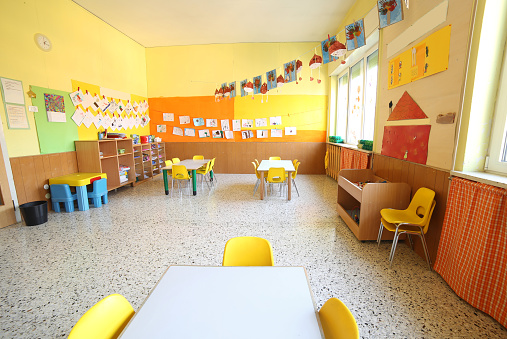 classroom of a daycare center 857337812