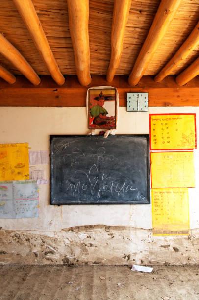 Classroom of druk padma karpo institute after flashflood in shey, Leh, Ladakh, Jammu and Kashmir, India