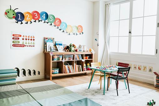 Classroom of kindergarten interior design 1067731518