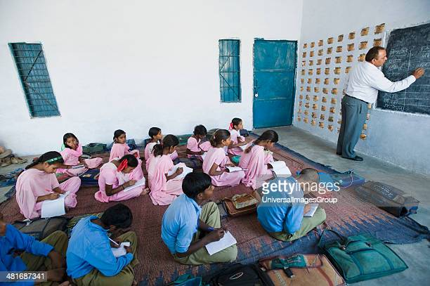 Classroom scene in a rural school