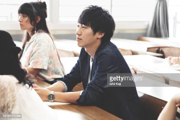 classroom scene of a japanese school - muster ストックフォトと画像