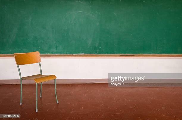 Chaise d'école en configuration salle de classe