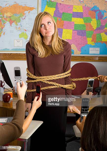 classroom series - naughty kids in classroom stock photos and pictures