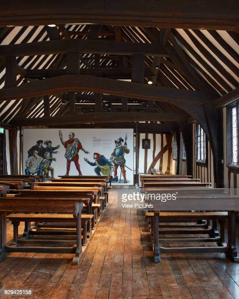 Classroom view with movable graphics partition Shakespeare's Schoolroom StratforduponAvon United Kingdom Architect Wright Wright Architects LLP 2016