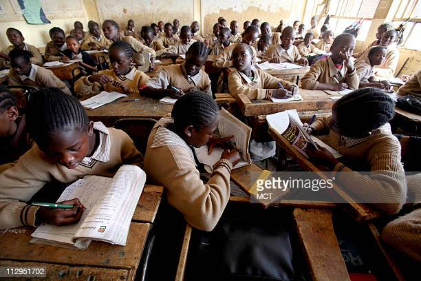 A classroom with over 90 students at the Ayani Primary School near the Kibera slums of Nairobi Since free primary education was instituted in Kenya...