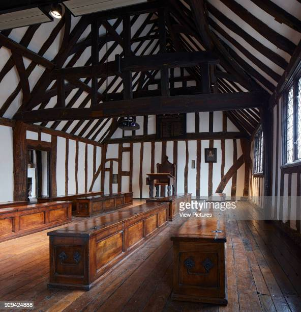 Classroom with teacher's desk and wooden chests Shakespeare's Schoolroom StratforduponAvon United Kingdom Architect Wright Wright Architects LLP 2016