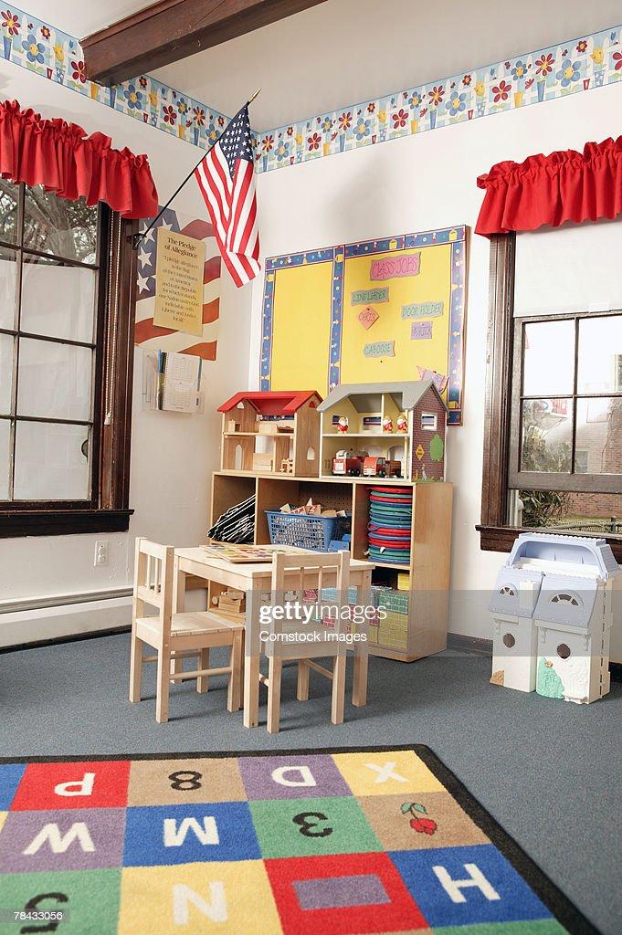 Classroom with toys : Stockfoto
