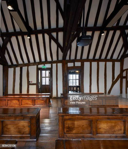 Classroom with wooden chests Shakespeare's Schoolroom StratforduponAvon United Kingdom Architect Wright Wright Architects LLP 2016