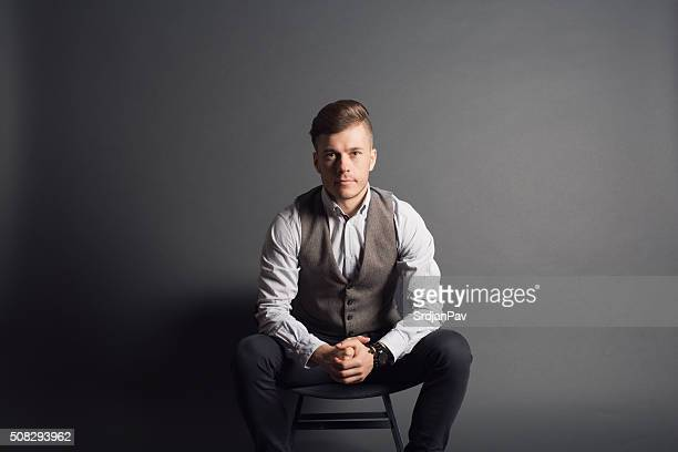 classy guy - waistcoat stock photos and pictures