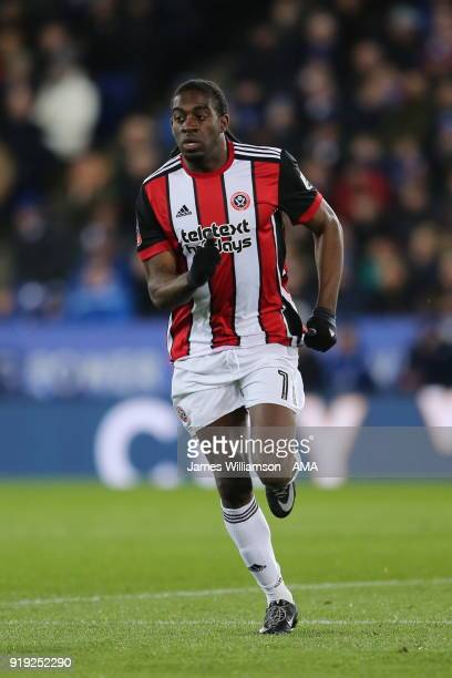 Clatyon Donaldson of Sheffield United during the Emirates FA Cup Fifth Round match between Leicester City and Sheffield United at The King Power...