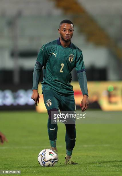 Claud Adjapong of Italy during the UEFA U21 European Championship Qualifier match between Italy and Armenia at Stadio Angelo Massimino on November...