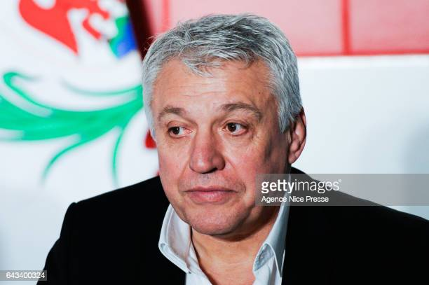 Claude Atcher director for organization of the world cup 2023 in France during the training session of the France rugby team at on February 21 2017...
