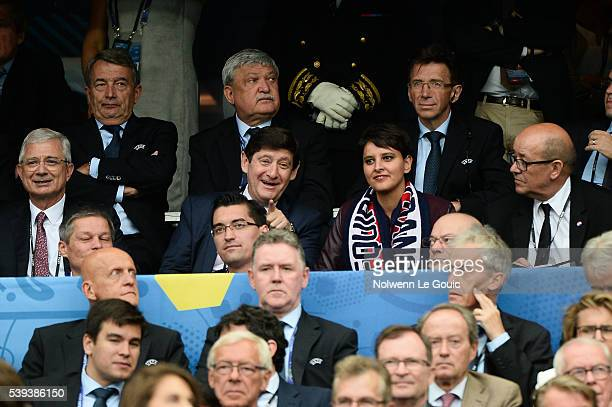 Claude Bartolone president of the french national assembly Patrick Kanner minister of sports Najat Vallaud Belkacem minister of national education...