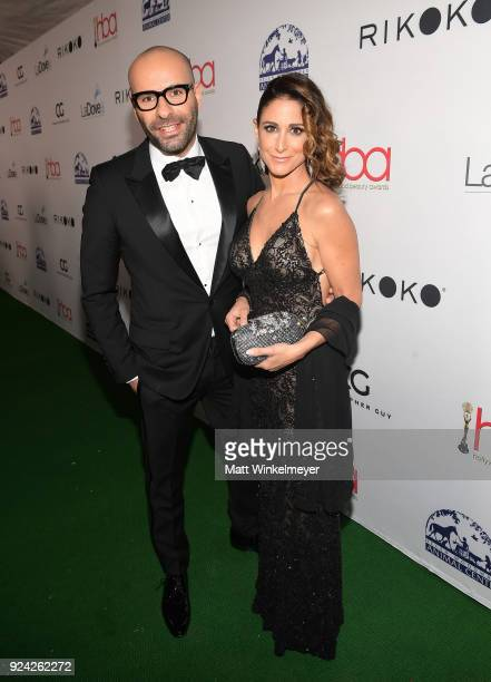 Claude Baruk and guest attend the 4th Hollywood Beauty Awards at Avalon Hollywood on February 25 2018 in Los Angeles California