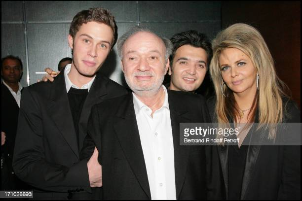 Claude Berri and Nathalie Rheims and their sons Thomas and Darius Langmann at the preview of the movie Ensemble c'est tout