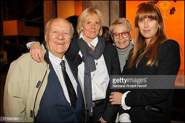 Claude Bolling Sophie Litras Irene Bolling Sophie Clerico Delon at Exhibition Opening Of The Collection Nicolas Laugero Lasserre At Gallery Galerie...